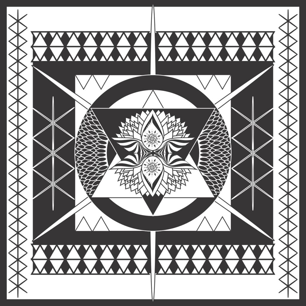 Mandala-Meditation-vorlage