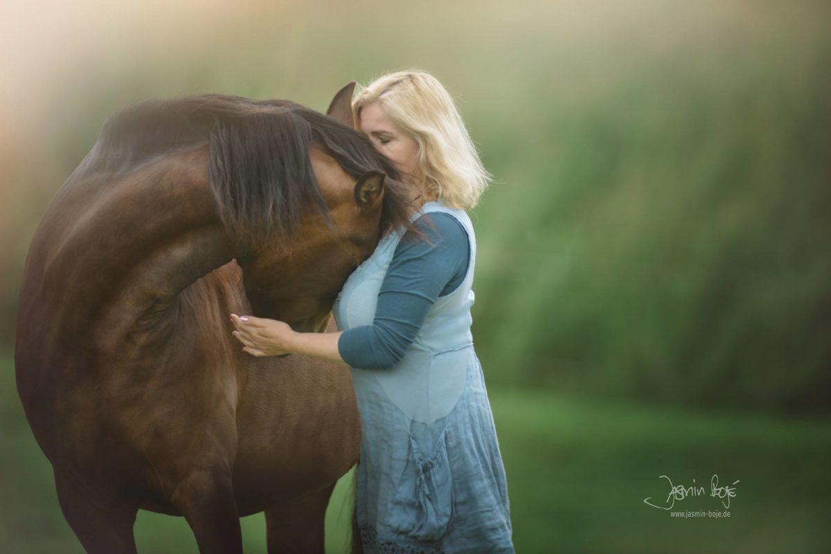 Susanne Hühn mit ihrem Pferd